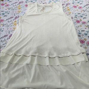 Melissa McCarthy Seven 7 brand white tunic, 1X